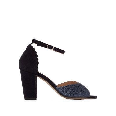 Sandales cuir talon haut détail paillettes MADEMOISELLE R