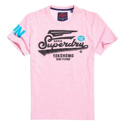 Tee shirt  col rond manches courtes imprimé devant SUPERDRY