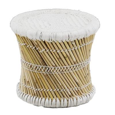 Pouf rond en fibres de bambou Tam Pouf rond en fibres de bambou Tam INWOOD