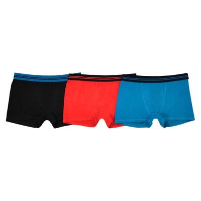 3er-Pack unifarbene Boxershorts, 10-16 Jahre, Oeko-Tex La Redoute Collections