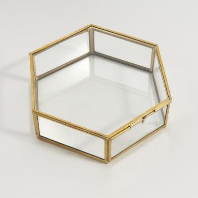 Caja hexagonal de cristal y latón Uyova Caja hexagonal de cristal y latón Uyova La Redoute Interieurs