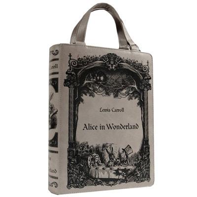 Sac apparence livre Alice au Pays des Merveilles RESKAL