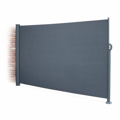 Paravent rétractable Putti gris 300x160cm, brise-vue enroulable 3m, mât aluminium et toile polyester 280g ALICE S GARDEN