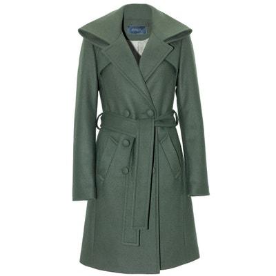 Manteau col haut en cachemire vert Manteau col haut en cachemire vert RENOMA