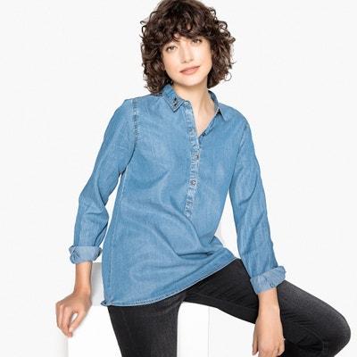 Jeansbluse mit langen Ärmeln und Schmuckkragen Jeansbluse mit langen Ärmeln und Schmuckkragen KAPORAL 5