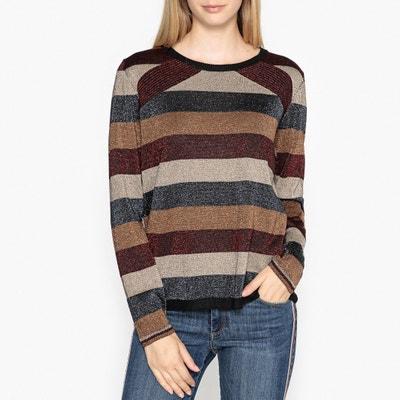 Пуловер с круглым вырезом из тонкого трикотажа OSCAR Пуловер с круглым вырезом из тонкого трикотажа OSCAR BERENICE