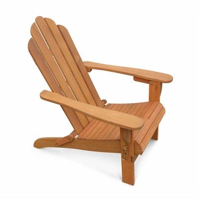 Fauteuil de jardin en bois Adirondack Salamanca eucalyptus FSC, chaise de terrasse retro, siège de plage pliable ALICE S GARDEN