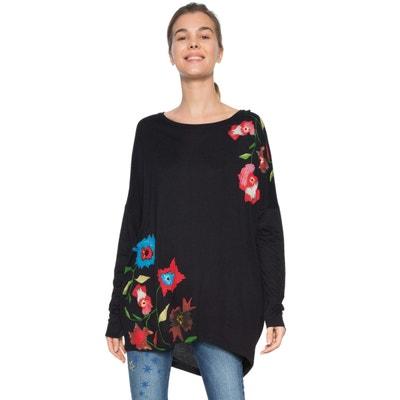Camiseta estampada de flores, con cuello redondo y manga larga Camiseta estampada de flores, con cuello redondo y manga larga DESIGUAL
