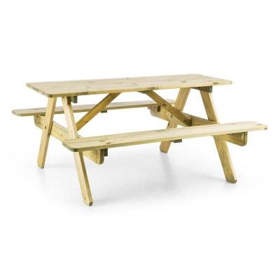 Blumfeldt Table de pique-nique avec banc meuble jardin pour enfants - bois BLUMFELDT