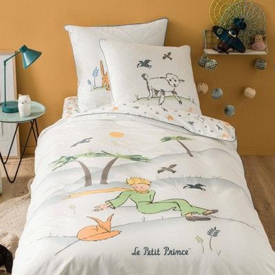 Parure de lit enfant imprimée Le Petit Prince amitiés - 100 % coton - esprit aquarellé Parure de lit enfant imprimée Le Petit Prince amitiés - 100 % coton - esprit aquarellé BLANC CERISE