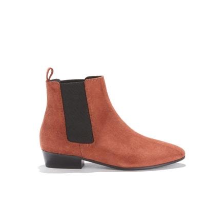 Boots élastiquées, cuir velours de veau Boots élastiquées, cuir velours de veau RIVECOUR