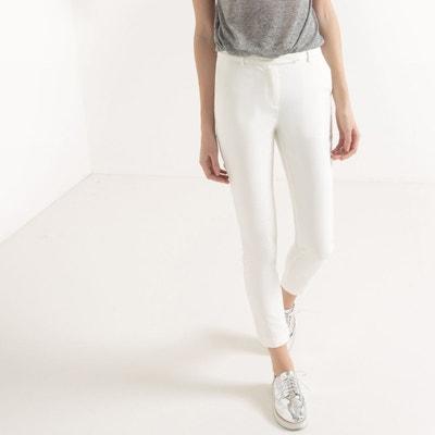 94f0c985b903f Pantalon cigarette blanc en solde   La Redoute
