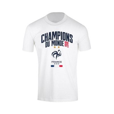 T-shirt France Champions du Monde 2018 Blanc MADE IN SPORT