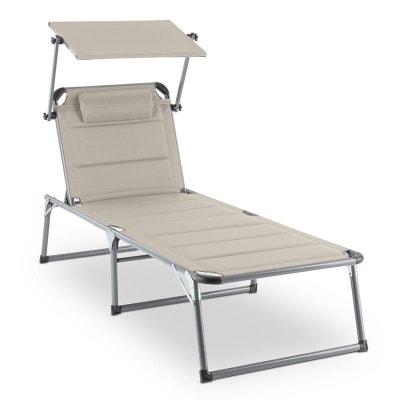 Blumfeldt Amalfi Creamy Beige Chaise longue 70x37x200cm Pare-soleil -beige BLUMFELDT