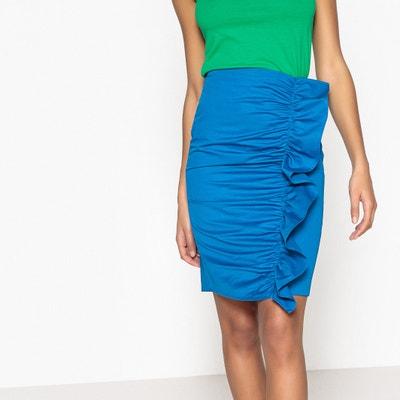 Asymmetrical Ruffled Pencil Skirt Asymmetrical Ruffled Pencil Skirt La Redoute Collections