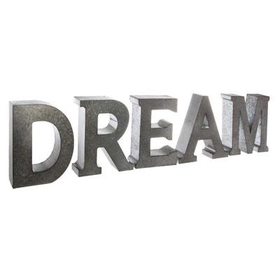 lettre decorative metal la redoute. Black Bedroom Furniture Sets. Home Design Ideas