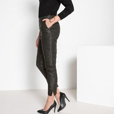 Pantalon droit jacquard, 7/8ème Pantalon droit jacquard, 7/8ème ANNE WEYBURN