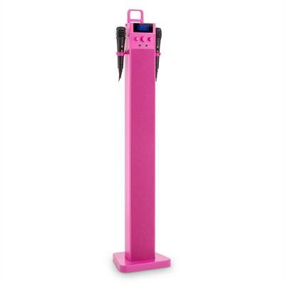auna HiTower Enceinte colonne Karaoké Bluetooth FM AUX USB 2 micros -rose auna HiTower Enceinte colonne Karaoké Bluetooth FM AUX USB 2 micros -rose AUNA