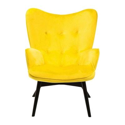 Fauteuil Vicky velours jaune Kare Design KARE DESIGN