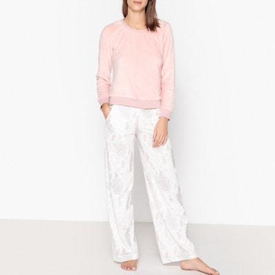 Pijama de terciopelo con estampado de hojas Pijama de terciopelo con estampado de hojas DODO