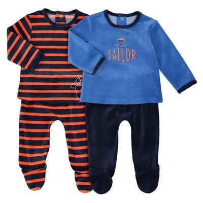 Pijama separável, estampado marinheiro, lote de 2 La Redoute Collections
