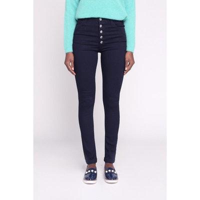 Pantalon skinny taille haute à boutons CACHE-CACHE