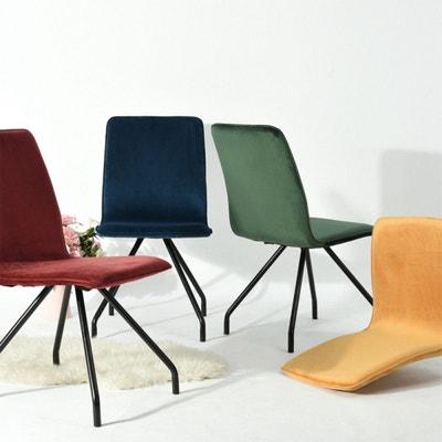 Lot De 2 Chaises Salon En Velours Avec Pieds Design