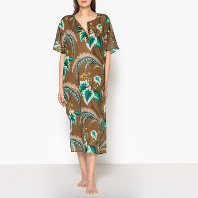 Платье с тунисским вырезом из вуали с рисунком RONA Платье с тунисским вырезом из вуали с рисунком RONA DIEGA