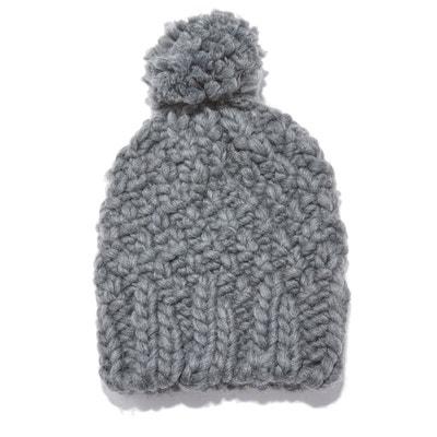 66399b9d2dba Bonnet à pompon en tricot LA REDOUTE COLLECTIONS