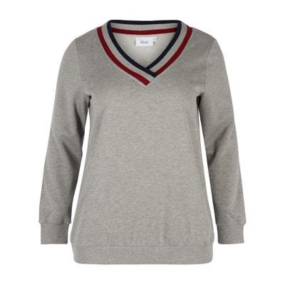 Sweater met V-hals, ribboordafwerking Sweater met V-hals, ribboordafwerking ZIZZI