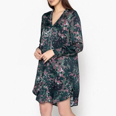 Hamill Printed V-Neck Dress SAMSOE AND SAMSOE