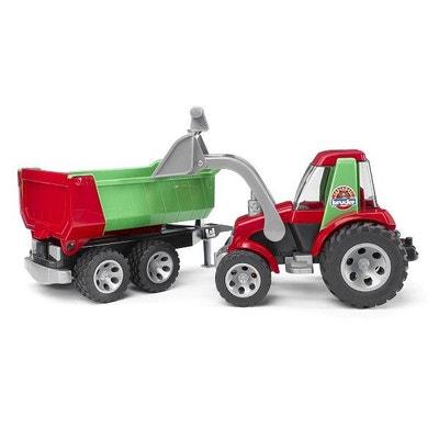 Tracteur avec fourche et remorque basculante Roadmax Tracteur avec fourche  et remorque basculante Roadmax BRUDER 80bfe78ed09e