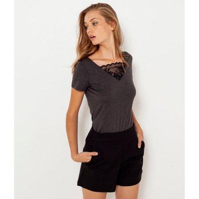 Tee shirt dentelle femme en solde   La Redoute 35a428044931