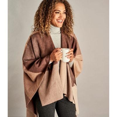 dc9f6391eb9cd Poncho-plaid à carreaux pure laine Poncho-plaid à carreaux pure laine  WOOLOVERS