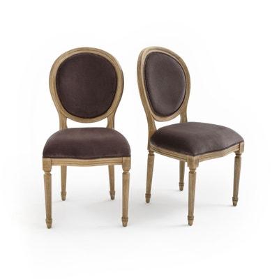 Confezione da2 sedia a medaglione velluto TRIANON Confezione da2 sedia a medaglione velluto TRIANON La Redoute Interieurs