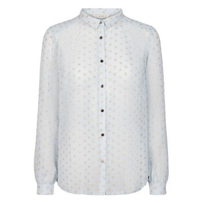 Bluse mit glänzenden Punkten und langen Ärmeln ARAZOA Bluse mit glänzenden Punkten und langen Ärmeln ARAZOA NUMPH