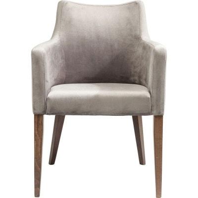 Chaise avec accoudoirs Mode velours grise Kare Design KARE DESIGN