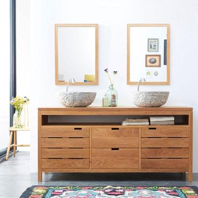 meuble salle de bain en chne massif 165 serena oak tikamoon
