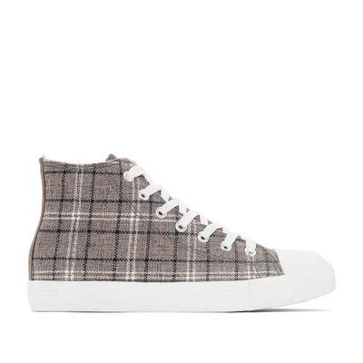 Geruite hoge sneakers La Redoute Collections