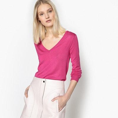 Pull scollo a V in maglia fine La Redoute Collections