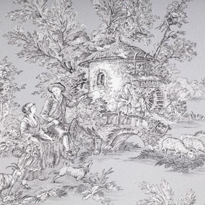 Tissu toile de Jouy grande largeur Tissu toile de Jouy grande largeur CAREFIL