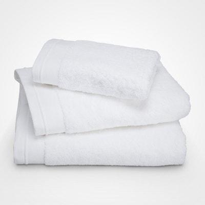 Serviette de toilette - coton peigné 600 g/m² - unie blanc BLANC CERISE