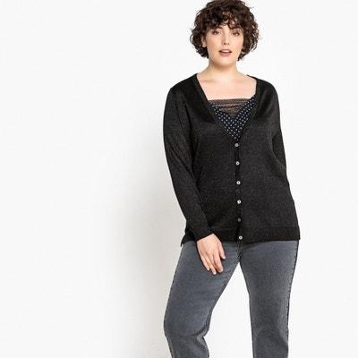V-Neck Buttoned Sparkle Knit Cardigan V-Neck Buttoned Sparkle Knit Cardigan CASTALUNA