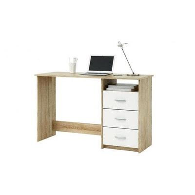 Bureau 3 tiroirs ARISTOTE Chêne-Blanc Bureau 3 tiroirs ARISTOTE Chêne-Blanc DEMEYERE