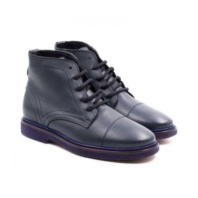 Boni Alexandre - boots enfant en cuir bleu BONI CLASSIC SHOES. Soldes 05b292f85ffd