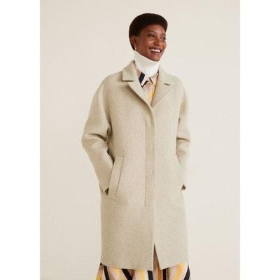 Manteau déstructuré en laine Manteau déstructuré en laine MANGO 5a3a5534788c