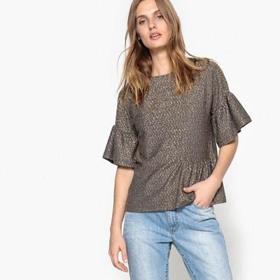 Tee-shirt brillant, volant asymétrique La Redoute Collections