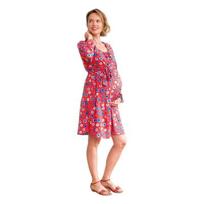 4d08fe6090862 Robe de grossesse imprimé floral SOPHIE NEUVIEME CIEL