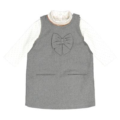Conjunto de 2 prendas vestido + camiseta de cuello alto, 1 mes - 3 años Conjunto de 2 prendas vestido + camiseta de cuello alto, 1 mes - 3 años La Redoute Collections