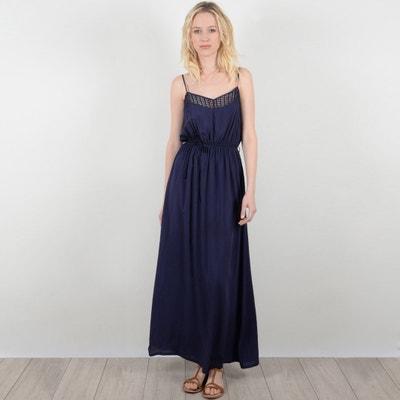 Plain Maxi Dress with Shoestring Straps MOLLY BRACKEN